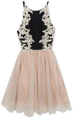 Rare Editions Big Girls Lace-Trim Halter Dress
