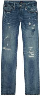Polo Ralph Lauren Varick Slim-Fit Distressed Jeans