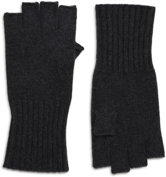 Halogen Fingerless Cashmere Gloves