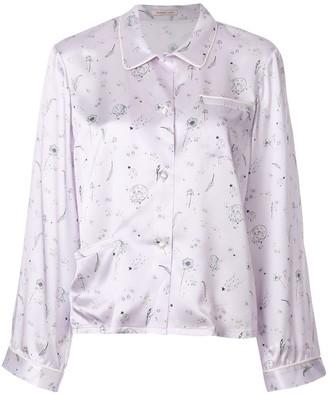 Morgan Lane Ruthie printed pyjama shirt