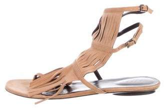 Gucci Fringed Leather Sandals