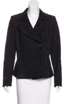 Salvatore Ferragamo Jacquard Leather Jacket