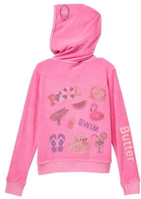 Butter Shoes Super Soft Mineral Wash Terry Hoodie (Big Girls)