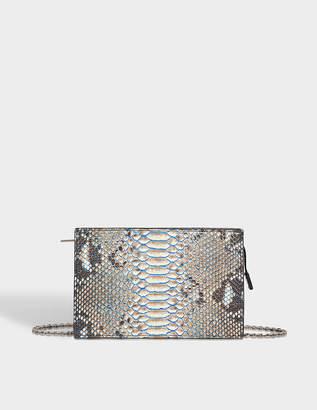 Calvin Klein Zipped clutch in python skin
