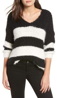 DREAMERS BY DEBUT Eyelash Chenille Stripe Sweater