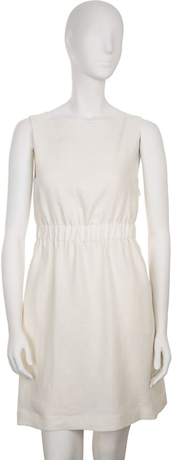 Theory for Barneys Green Boatneck Dress - Natural