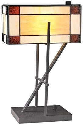 Tiffany & Co. Dimond Lighting 20 Fortwilliam Glass Table Lamp