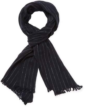 John Varvatos Collection Men's Striped Wool Scarf