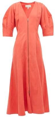 Mara Hoffman Sophie Zip Front Midi Dress - Womens - Red