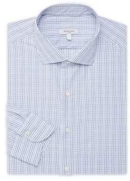 Boglioli Men's Classic-Fit Pinstripe Cotton Button-Down Shirt - White Blue - Size 41 (16)