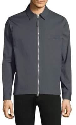 Theory Rye Zip-Front Overshirt Jacket