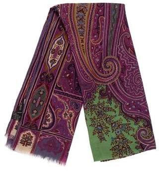 Etro Silk & Wool-Blend Paisley Scarf