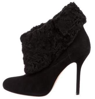 Oscar de la Renta Persian Lamb Ankle Boots