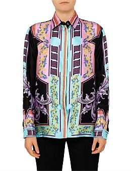 Versace Long Sleeve Silk Button Up Shirt