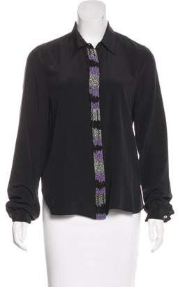 Gryphon Long Sleeve Button-Up Top