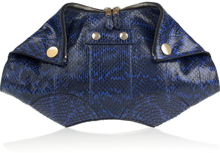 Alexander McQueen De Manta Faithful elaphe clutch