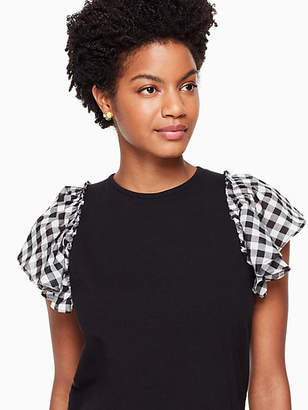 Kate Spade Voile mixed media tee