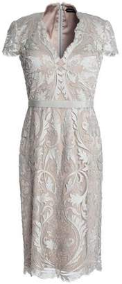 Catherine Deane Metallic Embroidered Tulle Dress