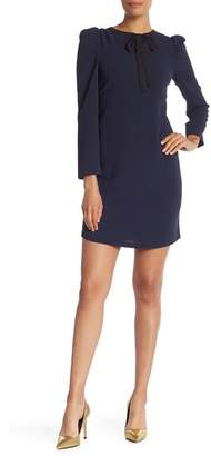 Cynthia Steffe CeCe by Puff Sleeve Tie Neck Dress