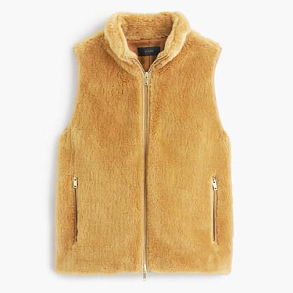 J.CrewPlush fleece excursion vest