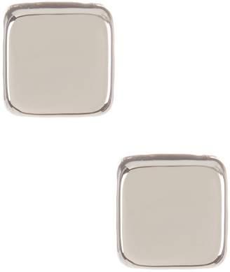 Candela 14K White Gold Cube Stud Earrings