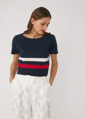 Emporio Armani Top In Cotton Knit