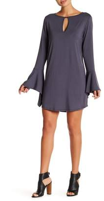 Couture Go Keyhole Bell Sleeve Dress
