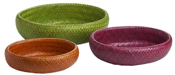 Set of 3 Fiesta Oval Baskets