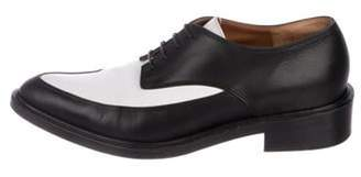 Givenchy Leather Two-Tone Oxfords black Leather Two-Tone Oxfords
