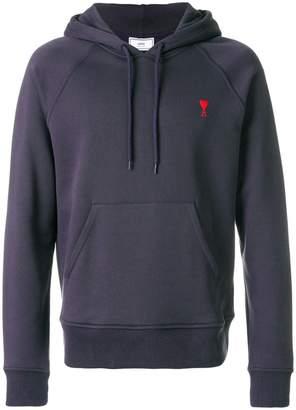Ami Alexandre Mattiussi Ami de Coeur-embroidered hoodie