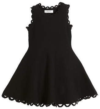 Milly Minis Eyelet Fit-and-Flare Dress, Size 4-7