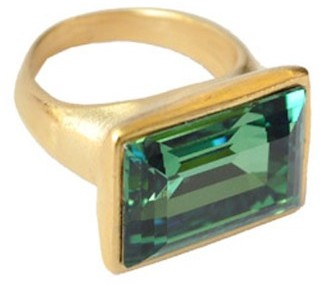 Diana Warner Emerald Cocktail Ring