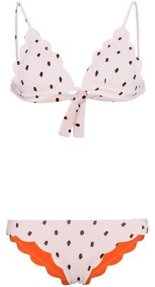 Marysia Swim Antibes Dotty Triangle Scallop Edge Bikini