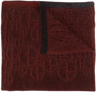 Giorgio Armani logo knit textured scarf