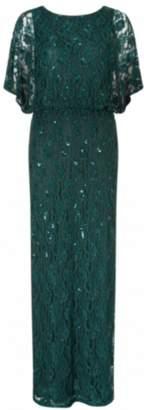 Ariella Ophelia Beaded Cape Dress