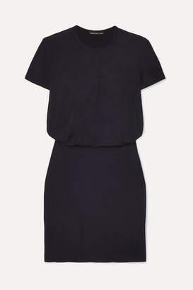 James Perse Slub Stretch-cotton Jersey Mini Dress - Navy