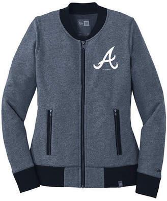 New Era Women Atlanta Braves French Terry Full-Zip Jacket