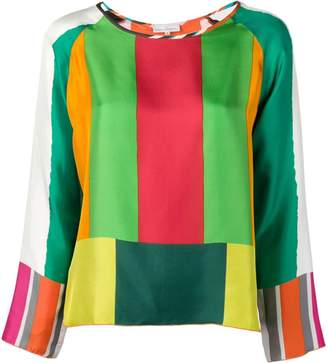 Pierre Louis Mascia Pierre-Louis Mascia stripe pattern blouse