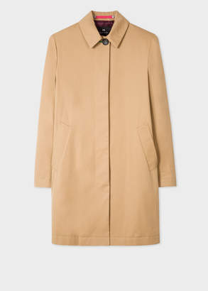Paul Smith Women's Camel Cotton Unlined Mac