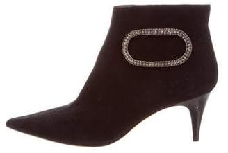 Rene Caovilla Embellished Ankle Boots