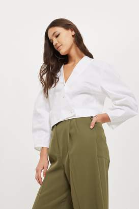 Topshop Wide Cropped Utility Pants