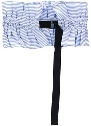 stripe ruched waist belt