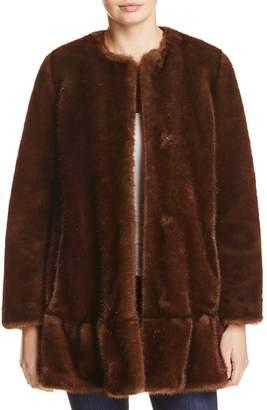 kate spade new york Faux Mink Fur Coat