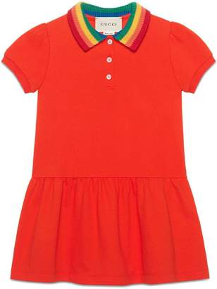 Gucci Kids Children's cotton dress with Mystic Cat