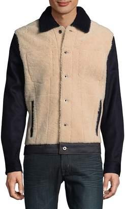 Valentino Men's Shearling Denim Jacket