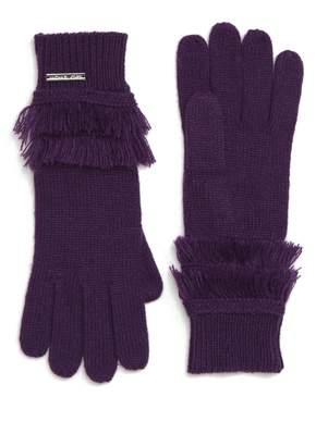 MICHAEL Michael Kors Fringe Ribbed Gloves