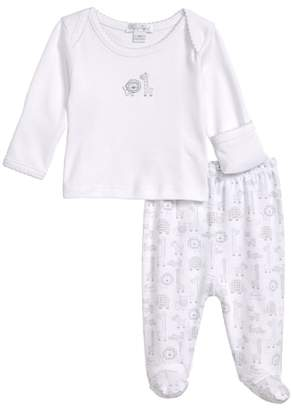 Kissy Kissy Jungle Out There Fitted Two-Piece Footed Pajamas