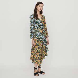 Maje Long Dress in Floral Print