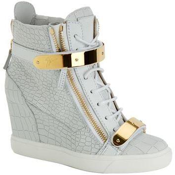 giuseppe zanotti croc wedge sneakers australia white