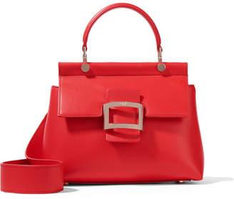Roger Vivier Viv Cabas Mini Leather Tote - Red